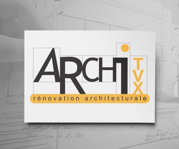 Agence de communication DISTINGUEZ-VOUS.COM- Création du logo et charte graphique de Archi Tvx à Bordeaux