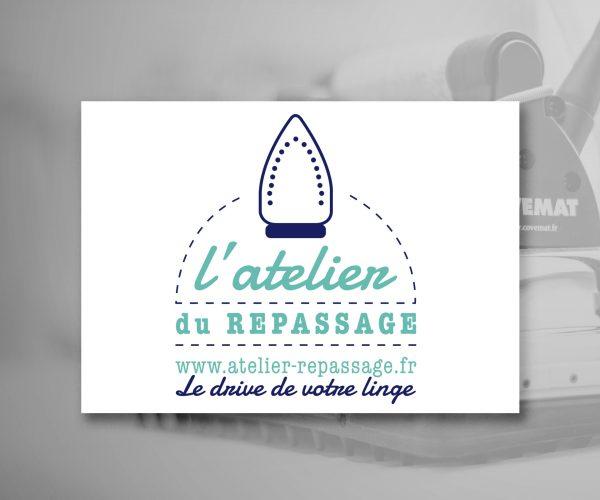 Agence de communication DISTINGUEZ-VOUS.COM- Création du logo et de la charte graphique de l'Atelier du repassage à Trélissac en Dordogne