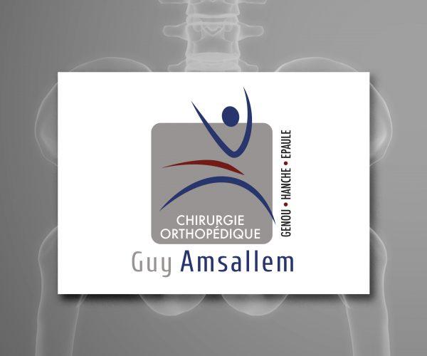 Agence de communication DISTINGUEZ-VOUS.COM- Création du logo et charte graphique du Dr Amsallem à Périgueux