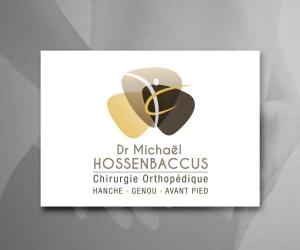 Agence de communication DISTINGUEZ-VOUS.COM- Création de logo et charte graphique pour le Dr Hossenbaccus à Périgueux
