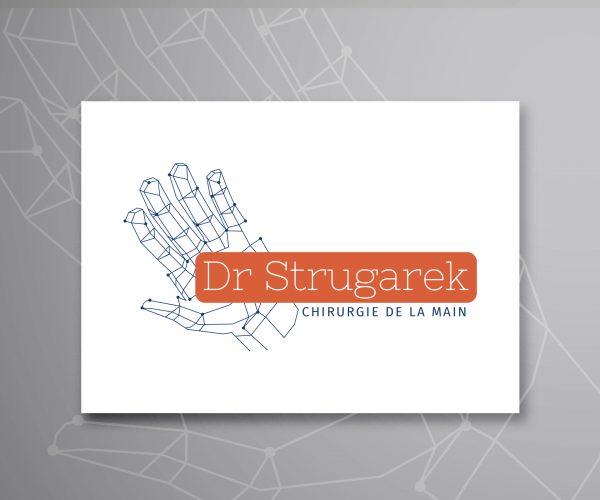 Agence de communication DISTINGUEZ-VOUS.COM- Création de logo pour le Dr Strugarek à Périgueux